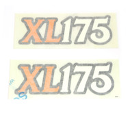 Side Cover Decal Set - Honda XL175 - 1974
