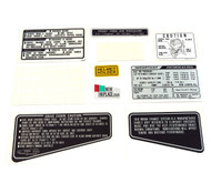 Warning and Service Label Set - Honda CB900F - Black