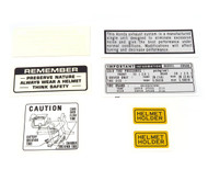 Warning and Service Label Set - Honda CB500K - 1971-1973