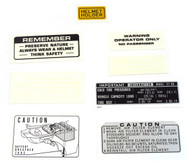Warning and Service Label Set - Honda ST90