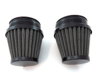 Black Air Filter Pod - 50mm - Set of 2 - CB350 CB360 CB450 CB500T CB750