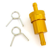 Gold Anodized Aluminum Fuel Filter - 1/4""