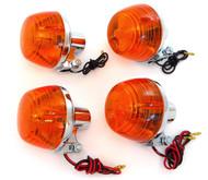 Reproduction Honda Turn Signal - Single & Dual Filament - Set of 4 - CB175/200/350/450/500/750