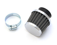 Chrome Pod Filter - 35mm - Honda CB160 CB350F CB400F