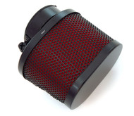 Black & Red Oval Air Filter - 39mm - Honda CB750
