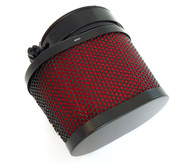 Black & Red Oval Pod Filter - 50mm - Honda CB/CL350/360/450 CB500T