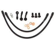 Stainless Steel Brake Line Kit - Black - Direct Caliper Mount - Honda CB360/450/500/550/750