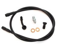 Stainless Steel Brake Line Kit - Black - Single Line - Honda CB350/360/450/550/750