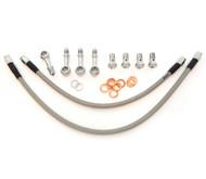 Stainless Steel Brake Line Kit - Clear - 35 Degree Caliper Mount - Honda CB360/450/500/550/750