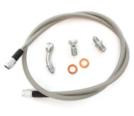 Stainless Steel Brake Line Kit - Clear - Single Line - Honda CB400F CB550F