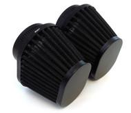 Set of 2 Black Performance Oval Pod Filters - 54mm - Honda CB/CM400/450 CX/GL500/650