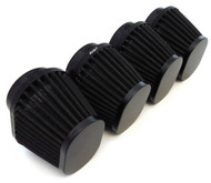 Set of 4 Black Performance Oval Pod Filters - 54mm - Honda CB650/750/900/1000/1100