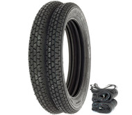 Metzeler Block C Tire Set - Honda CB350/360/400F CJ/CL360