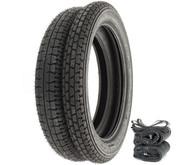 Metzeler Block C Tire Set - Honda SL350K 69-71 CB500T/550 CB750F 75-78 CB750K 69-76