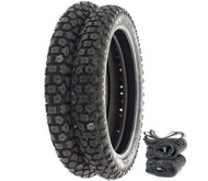 Shinko SR244 Dual Sport Tire Set - Honda NX/TL125 XL125S XR/XL185 TLR200 XL200R/250
