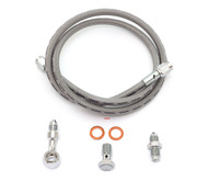 Clear Stainless Steel Brake Line Kit - Single Line - Honda CB350/360/450/550/750