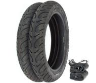 Kenda K657 Challenger Tire Set - Honda SL350K 69-71 CB500T/550 CB750F 75-78 CB750K 69-76