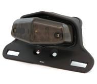 Lucas Style LED Tail Light Assembly - Matte Black w/ Smoke Lens