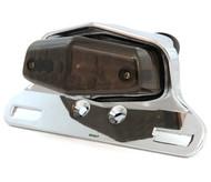 Lucas Style LED Tail Light Assembly - Chrome w/ Smoke Lens