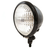"4.5"" Bottom Mount Halogen Headlight - Gloss Black w/ Clear Lens"