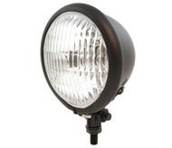 "4.5"" Bottom Mount Halogen Headlight - Matte Black w/ Clear Lens"