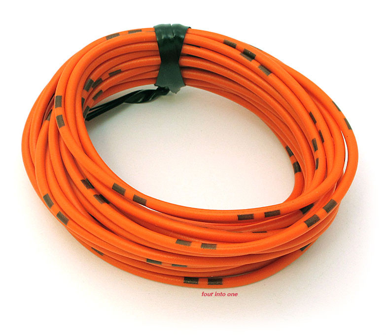 OEM Colored Electrical Wire 13\' Roll - Orange