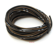 OEM Colored Electrical Wire 13' Roll - Black / Brown Stripe