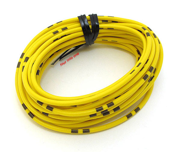 OEM Colored Electrical Wire 13\' Roll - Yellow