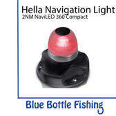Hella 2 NM NaviLED 360 All Round Red Navigation Lamps- Black Base