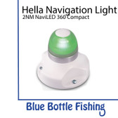 Hella 2 NM NaviLED 360 All Round Green Navigation Lamps- White  Base