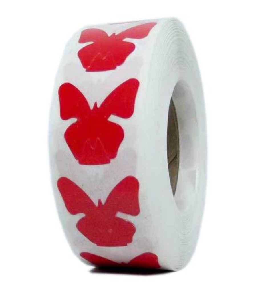 BUTTERFLY Body Stickers - 1000 ct.