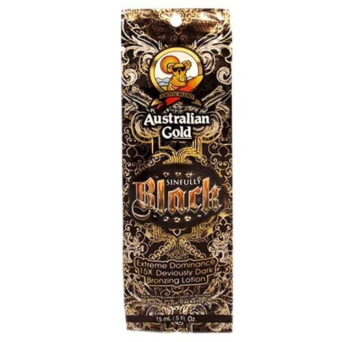 Australian Gold SINFULLY BLACK Dark Bronzer - .5 oz. - Packet