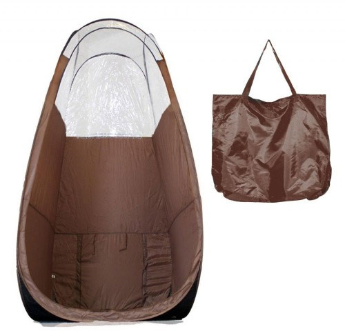 Pop Up Spray Tanning Tent - Brown