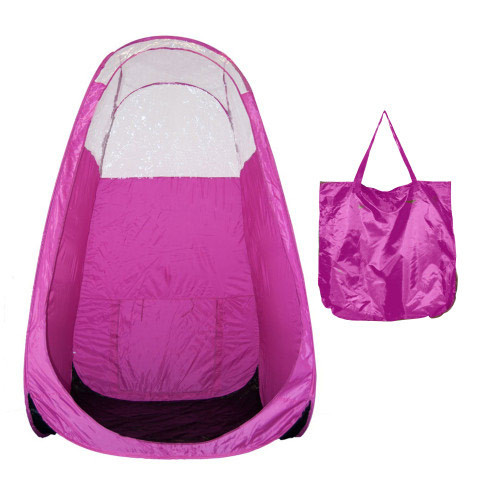 Pop Up Spray Tanning Tent - PINK