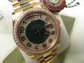 Rolex Mens Ref 118348 President DayDate 18kt Gold Green Anniversary Dial UNWORN