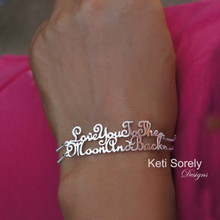 Handwriting Message Bracelet with Double Line - Choose Your Metal