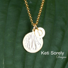 Mother - Child Initials Necklace - Choose Your Metal