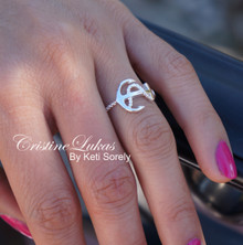 """You Are My Anchor"" Ring in Sterling Silver With Platinum Overlay"
