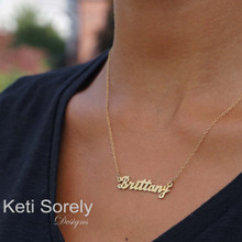 Personalized Hand Cut Name Necklace - Choose Your MEtal