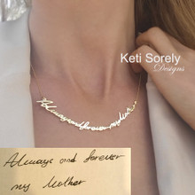 Handwritten Message Necklace - Save Your precious Moments - Tatoo Necklace - Choose Your Metal