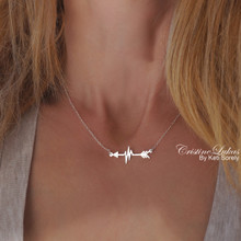 Arrow Heartbeat Necklace  - Choose Your metal