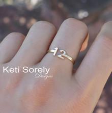 Date or Initials Open Wrapping Ring - Choose Your Metal