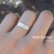 Hand Engraved Date or Name Ring - Choose Your Metal