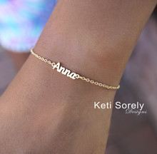 Kids Name Bracelet with Script Font -  Choose Your Metal