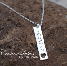 Custom Order for Vertical Bar Necklace