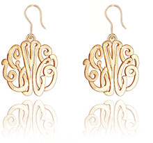 Personalized Handmade Monogrammed Initials Earrings - Ear Wire Style