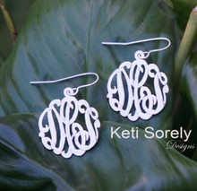 Personalized Monogrammed Initials Earrings with Ear Wire Style - Choose Your Metal