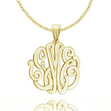 Personalized Script Monogram Pendant with Bail - Choose Your Metal