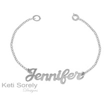 Personalized Name Bracelet or Anklet -  Sterling Silver, Yellow or Rose Gold