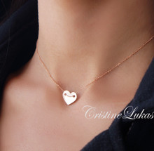 Handmade Small Heart Charm - Rose Gold